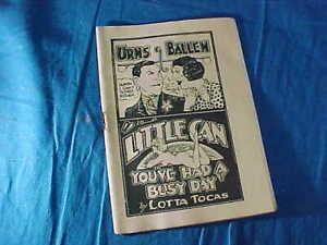 1930s TIJUANA BIBLE RISQUE Comic Book BURNS N ALLEN In LITTLE CAN