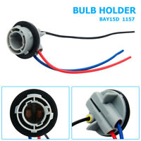 2x 1157 LED Brake Stop Light Bulb Car Extension Wire Socket Holder Connecter AU