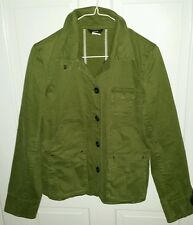 Jcrew army green stretch cotton military look jacket. size S