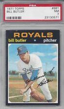 1971 Topps baseball card #681 Bill Butler Kansas City Royals graded PSA 7 NM