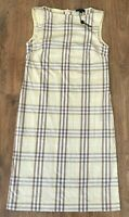 Burberry rare ladies womens yellow nova check summer dress size 8