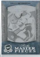 1/1   2007-08 The Cup Devin Setoguchi rookie master pieces