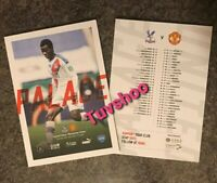 Crystal Palace v Manchester United RESTART Programme 16/7/20! READY TO DISPATCH!