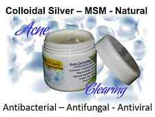Silver MSM Cream for Acne Spots Pimples – antibacterial antifungal antiviral etc