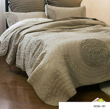Vintage Patchwork Coverlet Quilted Bedspread Queen King Size Blanket Throw Rug