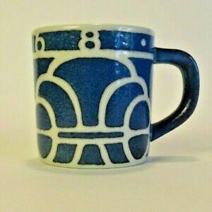 Royal Copenhagen 1968 ALUMINIA Small Blue Ceramic Mug Denmark by Ellen Malmer