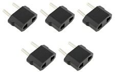 5 x Pieces US USA AC POWER PLUG ADAPTER TRAVEL CONVERTER to Euro EU EUROPE Pack