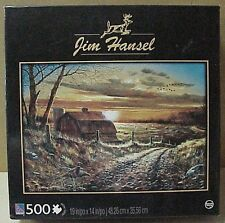 "Sure-Lox 500 pc jigsaw Puzzle called ""Farmstead"" used 19"" x 14"" size, Jim Hansel"