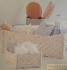Storage Knitted Baskets Knitting Pattern ideal for make up and craft items