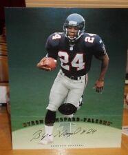 Byron Hanspard 1997 Leaf Signature 8x10 Auto Card Atlanta Falcons