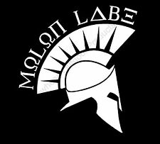 Molan Labe Viking Helmet 2A Come Take It Vinyl Decal Sticker Car Truck Window
