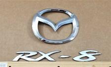 2004-2008 Mazda RX-8 & Logo Trunk Emblems OEM #F152-51-731A (4 Pieces)