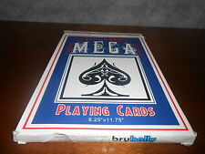"Monster Mega Super Jumbo Oversize Large 11.75"" x 8.25"" Poker Playing Cards Deck"