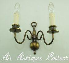 Antik Wandlampe Messing Barock Stil Brass Wall Light Vintage Wandleuchte