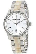 Michael Kors Horne Crystals Glitz White Dial Acrylic Women's Watch MK6371 SD