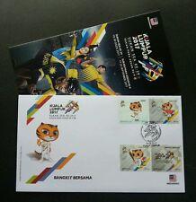 Malaysia 29th SEA Games 9th Para Asean 2017 Sport Tiger Kites Badminton (FDC)