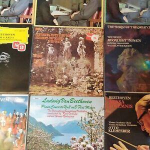 Ludwig Van Beethoven Classical record collection rare. Berlin Barenboim X9