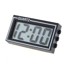 Digital LCD Display Auto Car Truck Dashboard Date Time Calendar Mini Clock Black