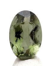 RARE Moldavite Faceted HIGH GRADE Gemstone Meteorite Impactite Tektite AUTHENTIC