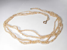 GEORGIAN NATURAL PEARL NECKLACE CERTIFICATED AS NATURAL