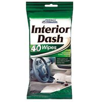 40 Dashboard Cleaning Wipes Plastic & Vinyl Car Interior Dash Gloss Shine