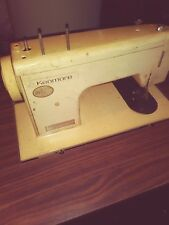 Vintage Sears Kenmore Metal Sewing Machine with table, no pedal, not tested