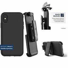 Apple iPhone X Belt Clip Holster ONLY for Otterbox Symmetry Series Case Cover