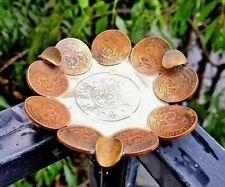 VINTAGE 1970 MEXICAN 20 CENTAVOS TEOTIHUACAN COPPER COIN AZTEC CALENDAR ASHTRAY