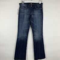 7 For All Mankind Jeans Women's Size 27 Bootcut Mid Rise Medium Wash NWT