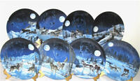Bradford Exchange Full Set Sentinels of the Sky Wolf Plates Pristine Cond.