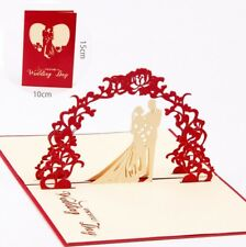 3D Pop Up Card On Your Wedding Day Lovers Blessing Greeting Invitation Cards
