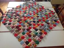 Vintage Yoyo Quilt 36x36 Table Topper