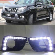 2x LED Daytime Running Fog Light DRL For Toyota Prado 2700 FJ150 2009-2013 black