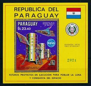 [105583] Paraguay 1970 Space travel weltraum NASA satellite Souvenir Sheet MNH