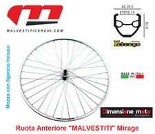 """9030 - Ruota Anteriore MALVESTITI Mirage + Sgancio per Bici 28"""" Fixed Scatto Fis"""