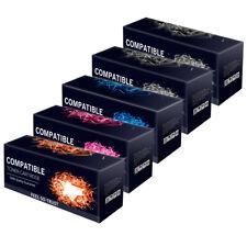 5 Remanufactured Toner Cartridges for Oki C5550MFP C5900 C5800