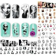 12 sheets beauty Marilyn Monroe water transfer nail art decoration sticker decal