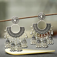 Indian Vintage Bollywood Oxidized Silver Traditional Jhumka Jhumki Earrings Gift