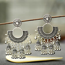 Traditional Jhumka Jhumki Earring Indian Vintage Bollywood Oxidized SilverPlated