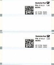 ATM Poststation Nr.0065 Übach-Pal. Satz Bücher-/Warensendung 1.90-2.20** Zudruck