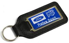 FORD RS RALLYE SPORT Leather Keyring for RS 2000 1800 Mexico Focus Escort Owners