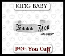 King Baby Studios Bracelet F YOU Cuff 925 silver K40-5157