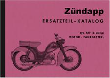 Zündapp Super Combinette Typ 429 Ersatzteilliste Ersatzteilkatalog Parts Catalog