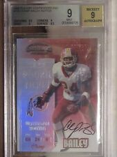 1999 Contenders Champ Bailey Rookie Ticket Auto BGS 9     Broncos RC Autograph