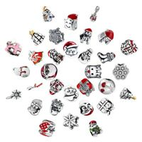Christmas Gift Charms Bead  Fit 925 Silver Sterling Bracelets Necklace