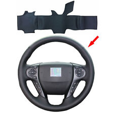 Hand Stitching Leather Steering Wheel Cover for 9th Gen Honda Accord 2013-2017