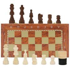 Schachspiel klassisches Schach Dame Backgammon Schachbrett Holz 40x40 cm
