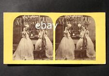 Stereoview 1850-1860 stereo nude woman w MIRROR? old 3D photo naked stereograph