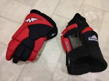 New listing Mission Hockey Gloves Red Black Adult Size Used 2 Times