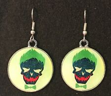 THE JOKER Earrings Surgical Hook New Cartoon Batman Villain DC Comics (B)